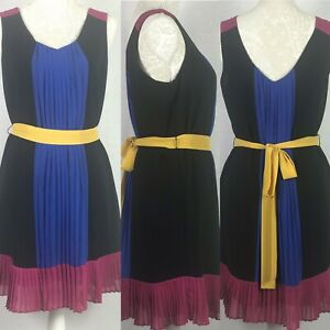 M&S Limited Collection Colour Block Dress Size 10 Wedding Guest Occasion Party
