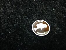 Gone Fishing 1 Gram .999 Pure Silver Round Coin Bar Bullion Bass Catfish  Angler