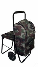 Camouflage Festival Cool Bag Folding Seat Trolley