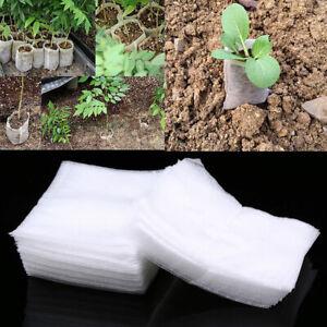 100X Plant Grow Raising Bags Non-woven Fabric Garden Nursery Plant Pouch