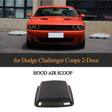 Carbon Hood Vent Air Flow Trim Intake Scoop Cover For Dodge Challenger 15-19