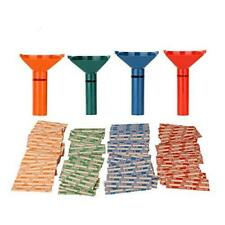 Coin Counters & Coin Sorters Tubes Bundle of 4 Color-Coded Coin Tubes and 100 As