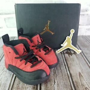 Nike Air Jordan Retro 12 Reverse Flu Game Varsity Red 850000-602 Tod. Sz. 5c