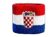 Schweißband Fahne Flagge Kroatien 7x8cm Armband für Sport