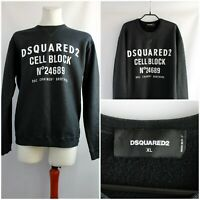 Dsquared cell block crew neck sweatshirt Black coated Size XL