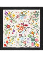 Gucci Flora Snake Print Silk Twill Scarf