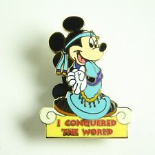 Disney Pin Minnie Mouse WDW I Conquered the World Pin Pursuit Walt Disney World