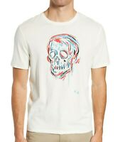 John Varvatos Star USA Men's Short Sleeve Skull Sketch Graphic Crew T-Shirt Salt