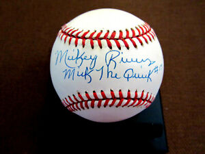 MICKEY RIVERS #17 MICK THE QUICK NY YANKEES SIGNED AUTO VINTAGE OAL BASEBALL SGC