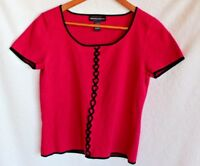 Spenser Jeremy Woman's Casual Red Blouse Size Medium