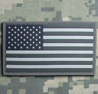 3D PVC USA US UNITED STATES AMERICAN FLAG TACTICAL UNIFORM ACU LIGHT PATCH