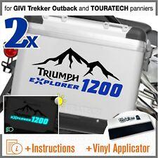 2x Triumph Tiger Explorer 1200 Black Blue for GIVI Trekker Outback and TOURATECH