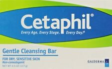 Cetaphil Gentle Cleansing Bar Hypoallergenic 4.5 Ounce For Dry Sensitive Skin