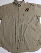Aussie Full Tilt Poker Columbia Fishing Mens Large Short Sleeve Shirt Vented
