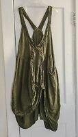 GENUINE MAGNOLIA PEARL GRACIE SUN DRESS GREEN SOLD OUT 100% LINEN OSFM NWOT MINT