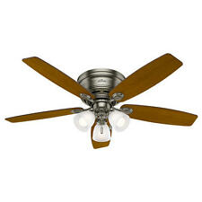"52"" Antique Pewter Led Indoor Ceiling Fan with Light Kit"