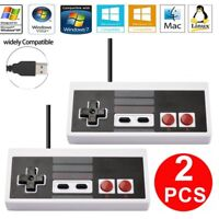 2Pack Wired Classic Gaming NES USB Controller Gamepad For Windows PC Mac Windows