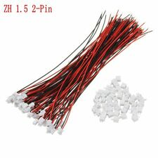 50 Sets Mini Micro JST 1.5mm ZH 2-Pin Connector Plug With Wires Cables 150mm