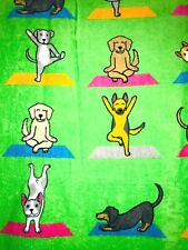 YOGA PUPPY DOGS  Beach Towel Plush Velour Terry