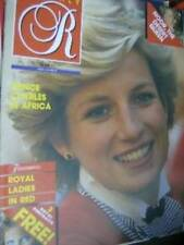Royalty Magazine V6 #8 Diana & Other Royals- Red Fashions, Charles In Africa,