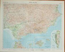 1956 LARGE MAPSOUTH SPAIN BALEARIC ISLANDS GIBRALTAR IBIZA MALAGA ALMERIA