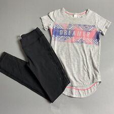 Ivivva Girls Outfit Black Leggings (Size 10) & Gray Dreamer Tunic (Size 7)