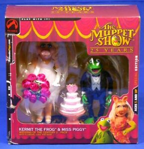 MUPPET SHOW KERMIT THE FROG & MISS PIGGY WEDDING CENTURY FIGURE PACK PALISADES