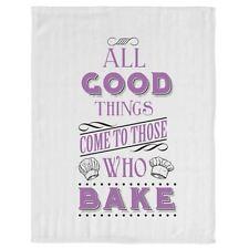 Fun Slogan Kitchen Tea Towel Baker Dish Cloth With Hanging Loop Those Who Bake