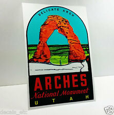 ARCHES NATIONAL PARK UTAH Vintage Style Travel DECAL,Vinyl STICKER,Luggage Label