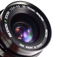 Lens RIKENON P Zoom 1 : 3.4 - 4.5 / 35 - 70mm MACRO RICON  Japan.