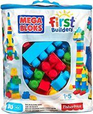 Mega Bloks First Builders Big Building Bag, 80-Piece (Classic) - Brand New