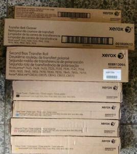 Xerox Toner Set CMYK Belt Cleaner Bias WorkCentre 7545 7556 7830 7855 7845 NEU