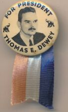 Thomas E. Dewey For President Campaign Pin/Ribbon-Nice Collectible! Ships Free!