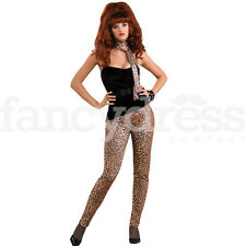 Leopard Print Leggings 80'S Glam Rock Animal Fancy Dress Costume Accessory