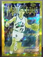 John Stockton card Refractor 96-97 Finest #283