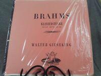 "Brahms Klavierstucke OP 119 Walter Gieseking 12"" Vinyl LP Record Mono Angel"