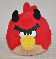 "6"" Angry Birds RED Devil HORN Halloween PLUSH *No* SOUND Rovio COMMONWEALTH 2011"