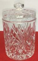 """Vintage Clear Covered  Cut Crystal Glass Candy Dish  6"""""""