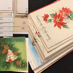 Vintage Lot of Unused 1940's 1950's Christmas Cards