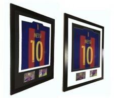 More details for frame for any signed sports shirt with 6x4 photo apertures football rugby