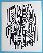 Victor VASARELY II Offset Originale 1973 Op Art Optique Cinétique