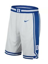 NWT Men's Nike Dri-Fit DUKE BLUE DEVILS Game White Replica Basketball Shorts 3XL