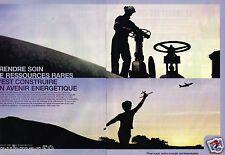Publicité advertising 2007 (2 pages) Station Total...Avenir energetique