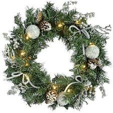 Couronnes de Noël argentées pour la maison