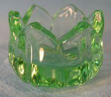 New listing Five Key Lime Glass Lotus or Tulip Pattern Open Salt Dip Cellars, New, Mint