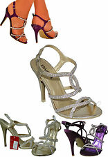 High Heel (3-4.5 in.) Strappy Evening Shoes for Women