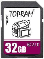 TOPRAM 32GB SD USH U1 class10 C10 32G SDHC 3.0 secure digital memory card bulk