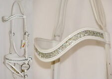 FSS GLISTEN Curve U CRYSTAL CLEAR BLING WHITE German Comfort PATENT GLOSS Bridle