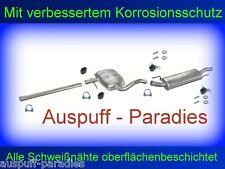 Abgasanlage Auspuff  VW Golf IV 1.6 Cabriolet Typ 1E7 100PS bis 10/2000 + Kit