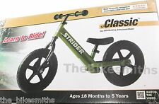 "Strider Classic GREEN NO Pedal Free Child Kids Balance Bike Training STM4GN 12"""